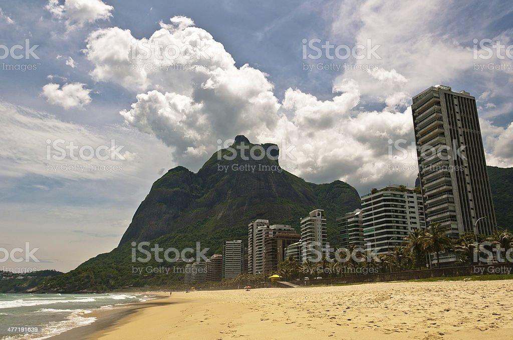 Beautiful Tropical Beach in Rio de Janeiro stock photo