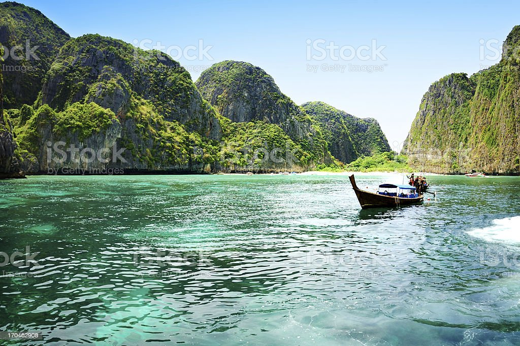 Beautiful tropical beach in Thailand stock photo