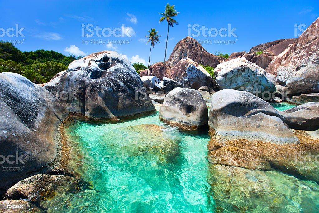 Wunderschönen tropischen Küste in der Karibik – Foto