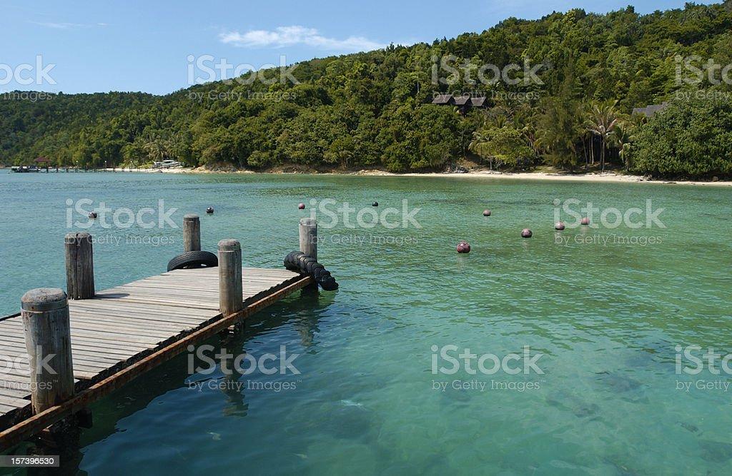 Beautiful Tropical Island Lagoon Borneo stock photo