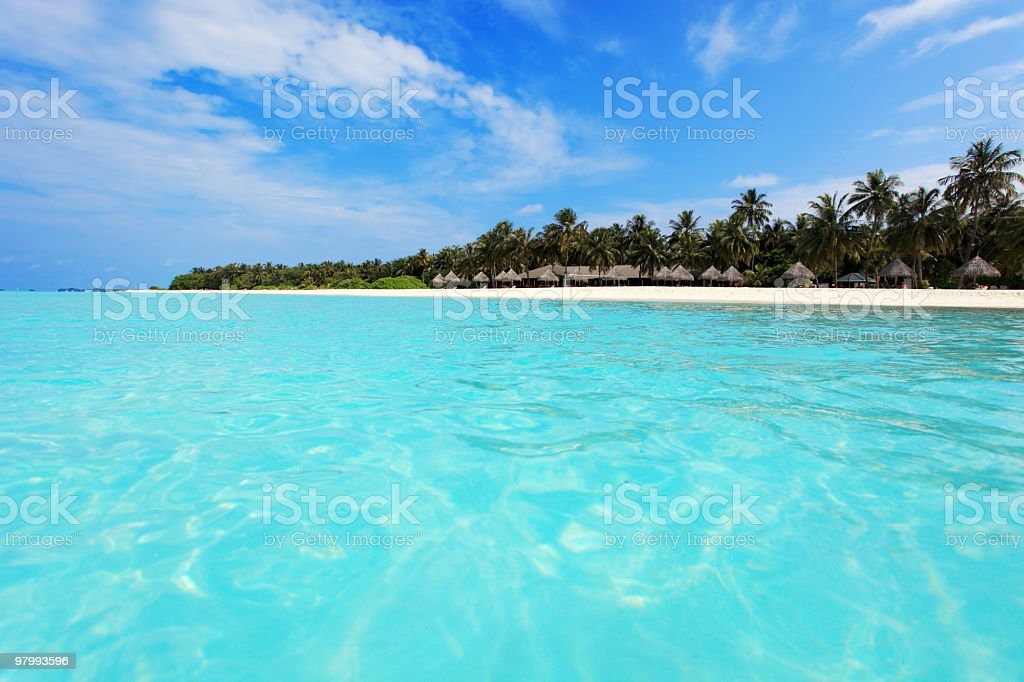 Beautiful tropical island. royalty free stockfoto