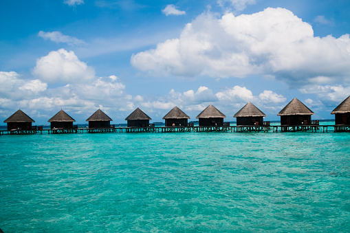 Beautiful Tropical Maldives Resort And Island Stock Photo Download Image Now