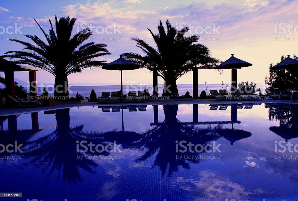 Beautiful Tropical Scene stock photo