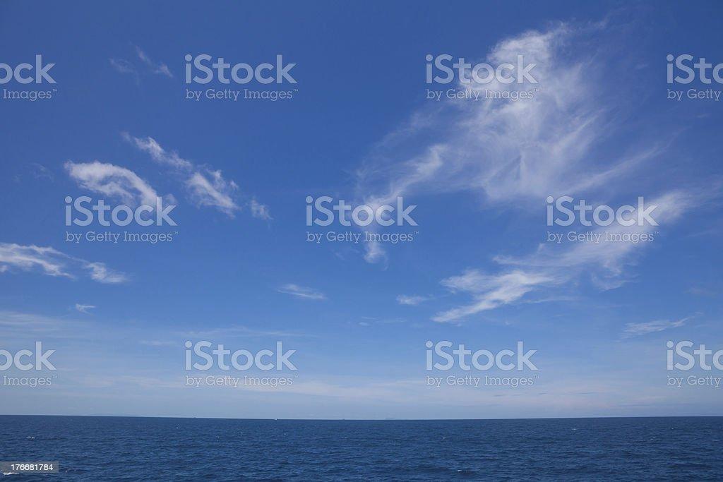 Beautiful tropical seascape royalty-free stock photo