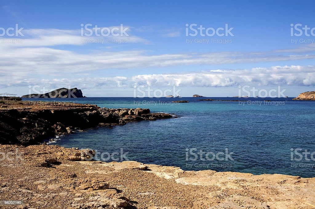 Beautiful tropical seascape royalty-free stock photo
