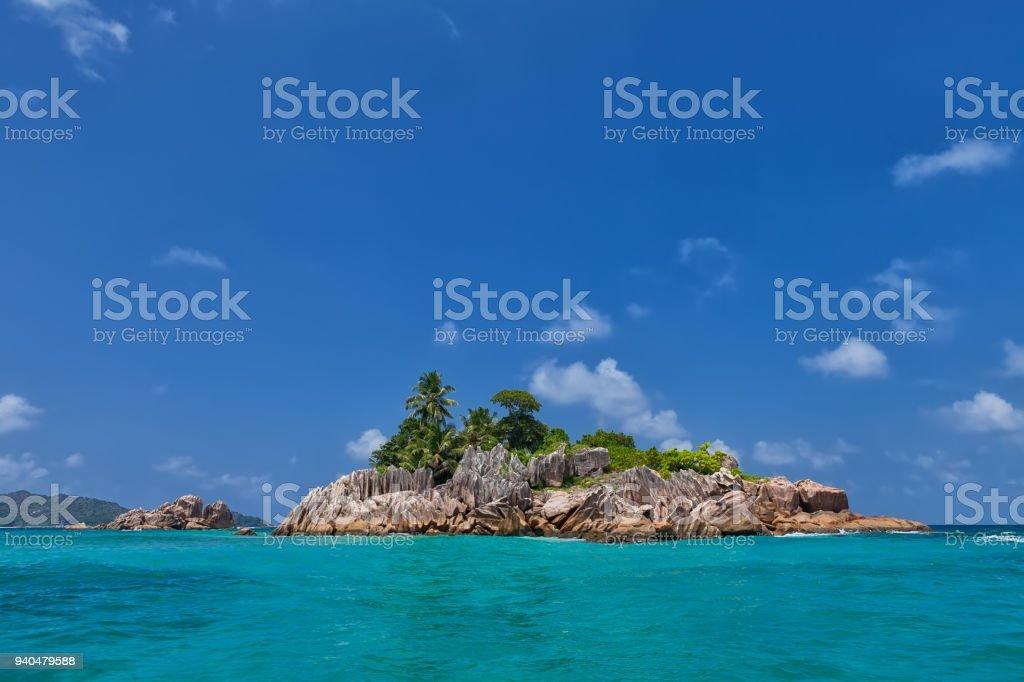 Beautiful tropical St. Pierre Island, Seychelles - foto stock