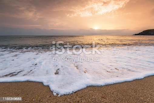 istock Beautiful tropical sunrise on the beach. 1155349683