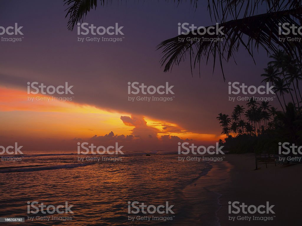 Beautiful tropical sunset royalty-free stock photo