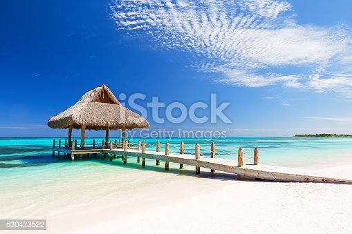 istock Beautiful tropical white sandy beach 530423522