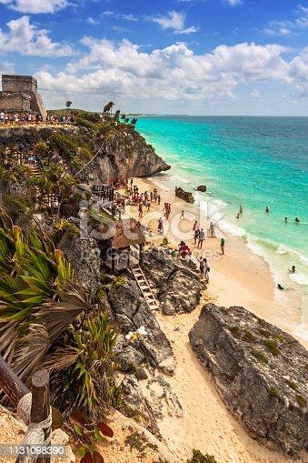 istock Beautiful Tulum beach at Caribbean sea 1131098390