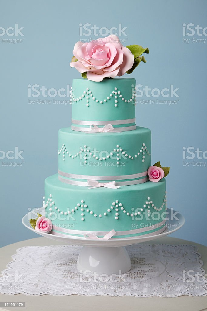 Belo bolo de turquesa - foto de acervo