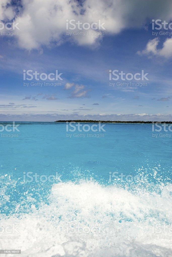 beautiful turquoise lagoon royalty-free stock photo