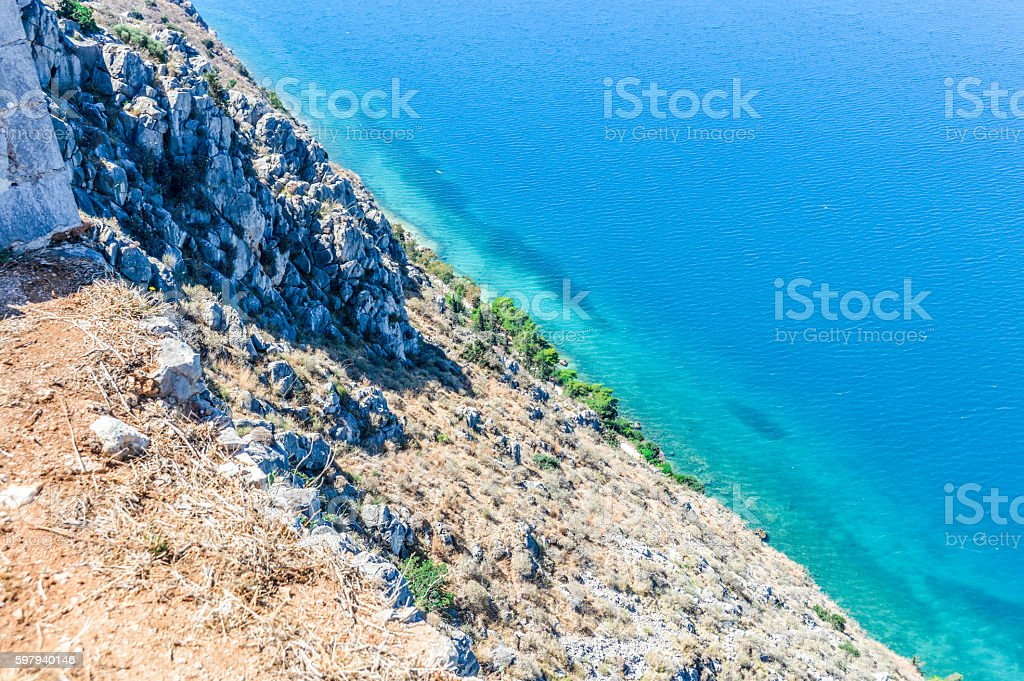 Beautiful turquoise water in Greece foto royalty-free