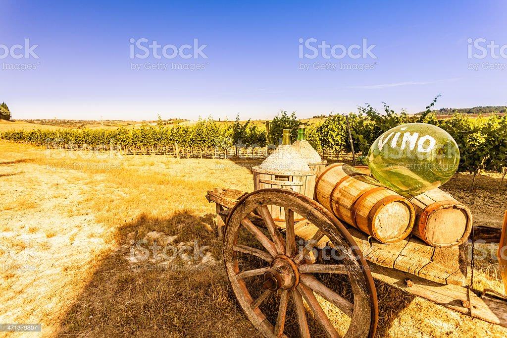 Beautiful Tuscany Landscape in Chianti Region royalty-free stock photo