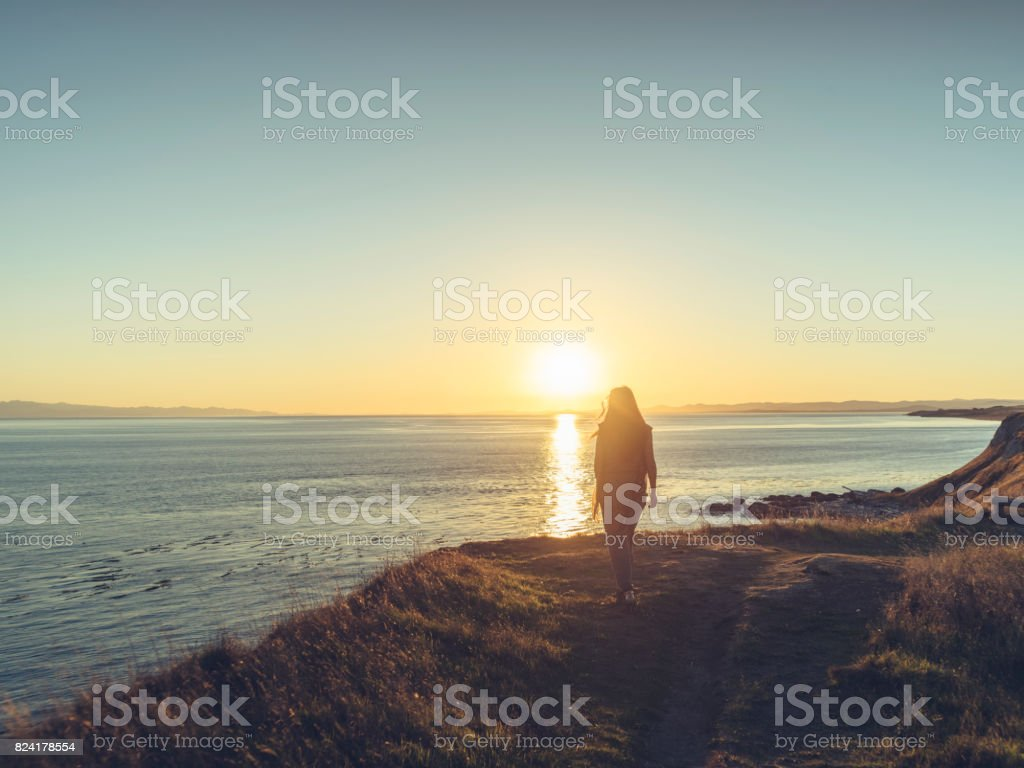 beautiful twilight seascape stock photo