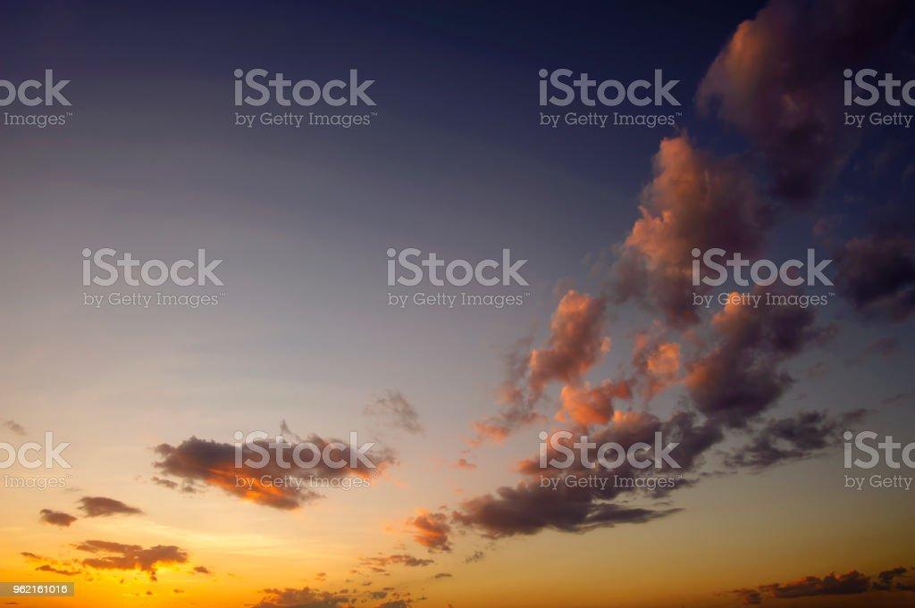 beautiful twilight sky after sunset stock photo
