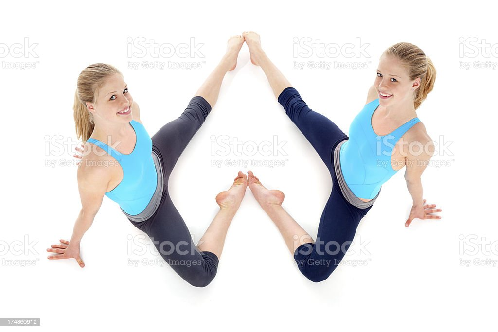beautiful twins athletes royalty-free stock photo