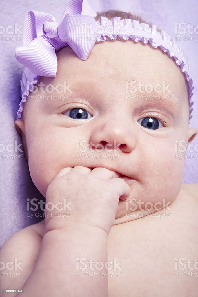 Beautiful Two Month Old Baby Girl royalty-free stock photo