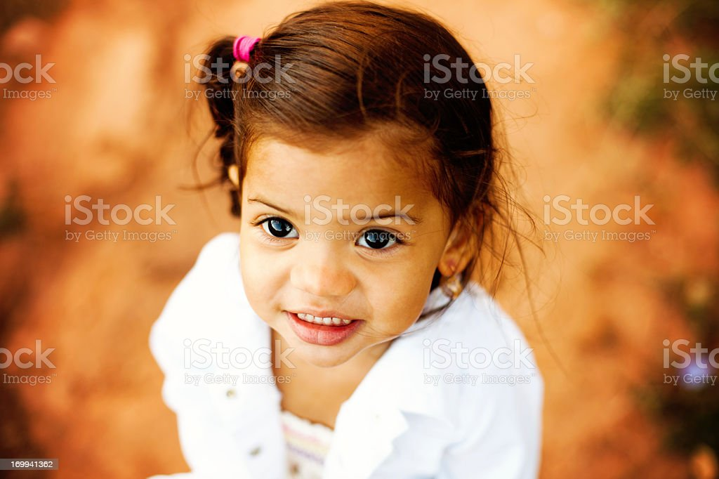 Beautiful Two Year Old Girl Outdoors royalty-free stock photo