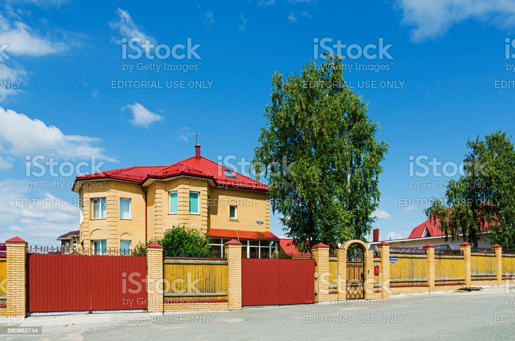Beautiful two-storey cottage royalty-free stock photo