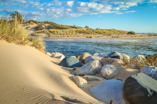 Beautiful Undeveloped Lake Michigan Coast And Sand Dunes