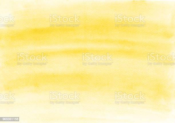 Piękne Jednolite Żółte Tło Akwareli Na Wszelkie Potrzeby Kanwa Na Okładkę Szablon Do Układu Projektowania Graficznego I Stron Internetowych Banerów - zdjęcia stockowe i więcej obrazów Abstrakcja