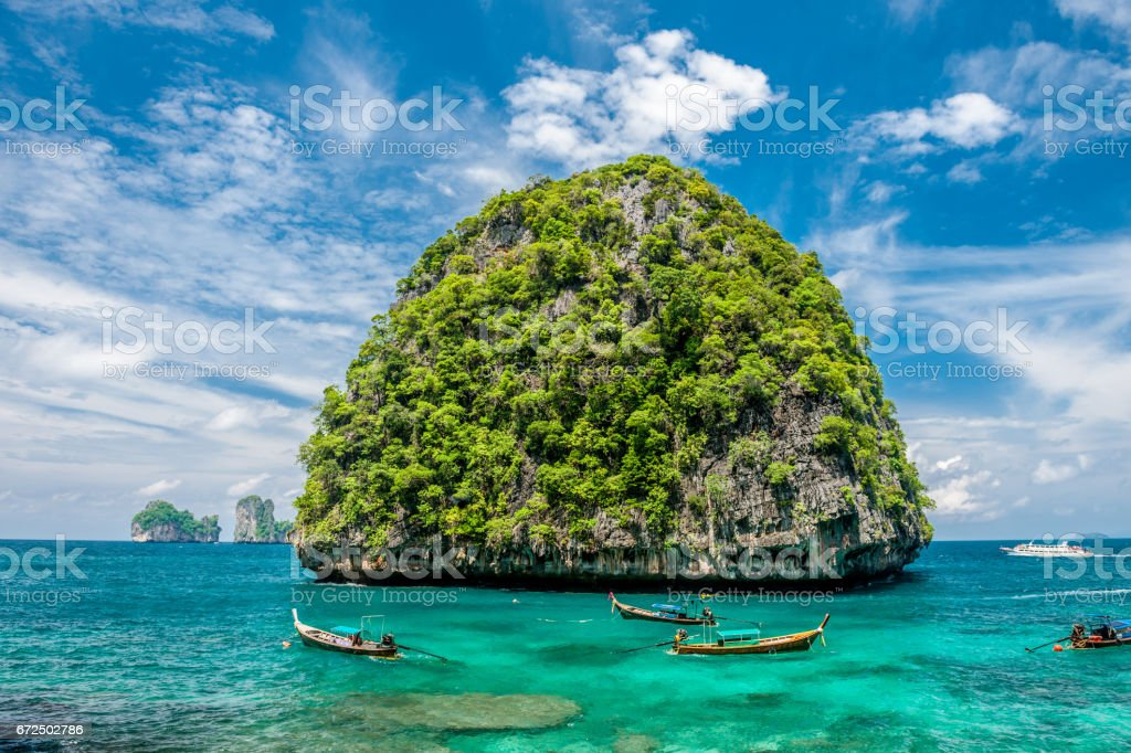 Beautiful uninhabited island in Thailand stock photo