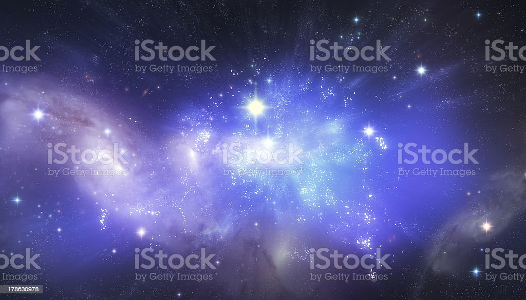 Beautiful universe background stock photo