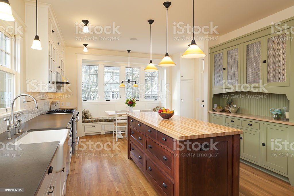 Beautiful Updated Kitchen stock photo
