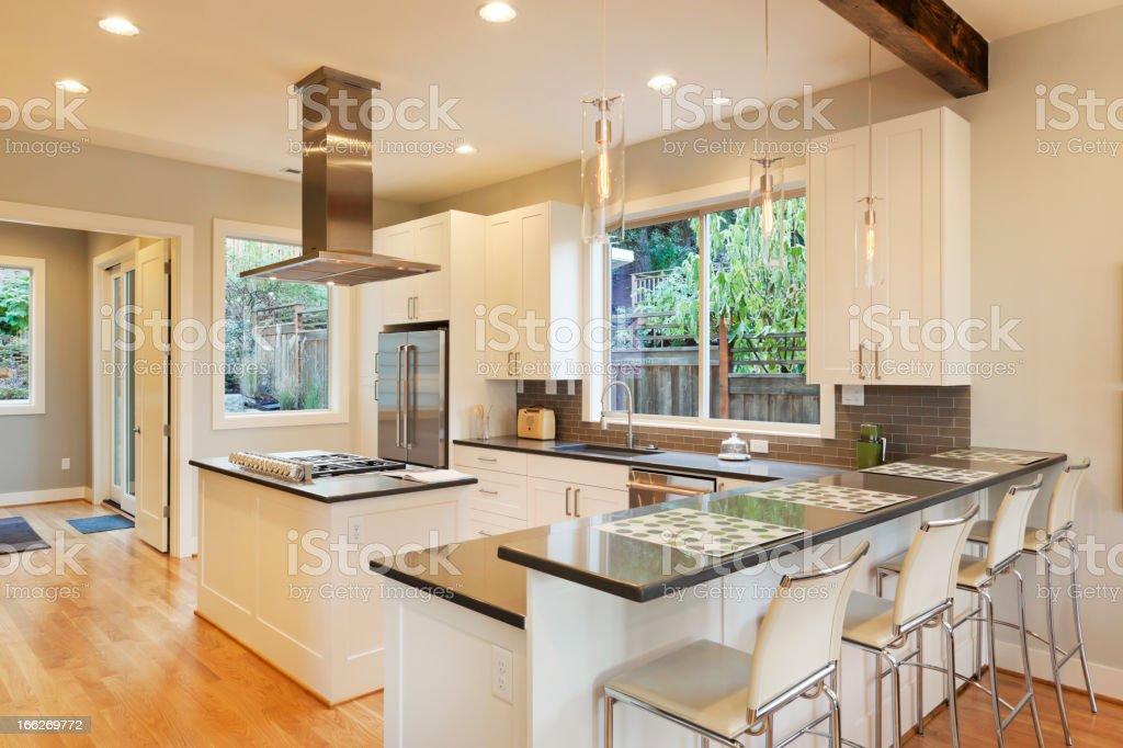Beautiful Updated Kitchen stock photo