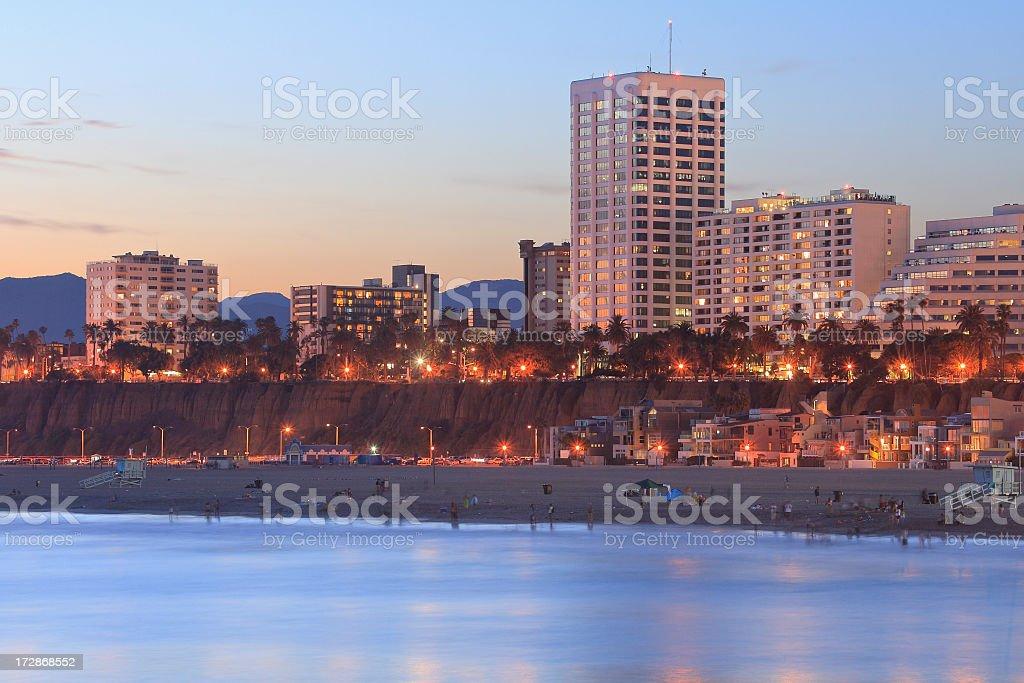 A beautiful urban beach coastal skyline royalty-free stock photo