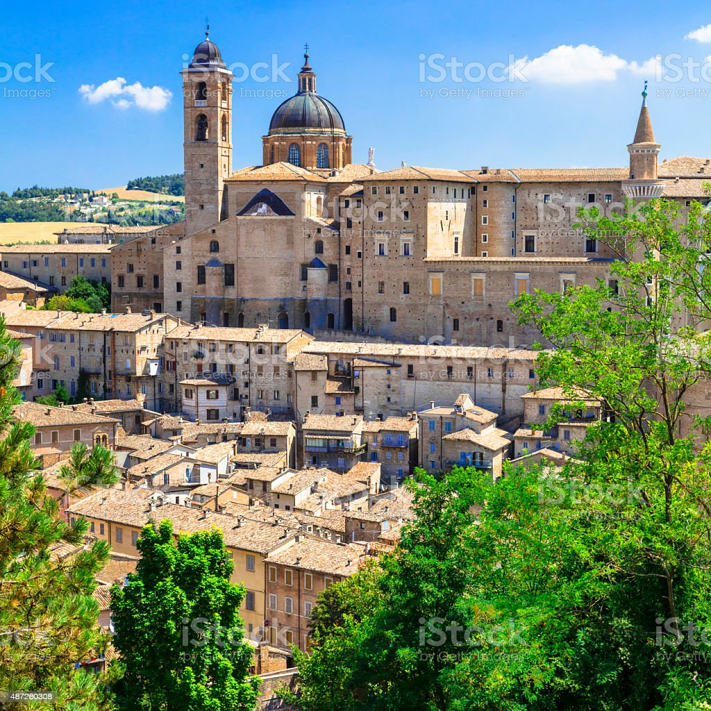Beautiful Urbino,Marche,Italy. stock photo