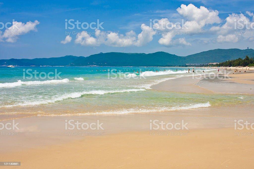 Beautiful vacation beach,Yalong Bay of Sanya, Hainan, China stock photo