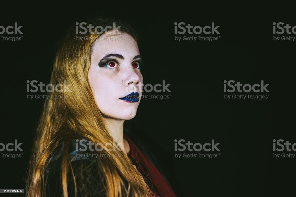 Beautiful Vampire Girl stock photo