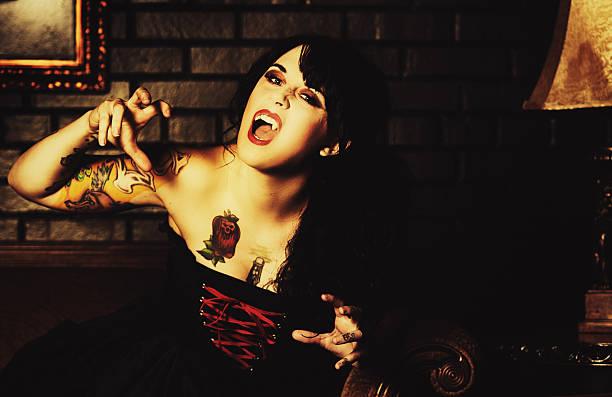 schöne vampir - baroque tattoo stock-fotos und bilder