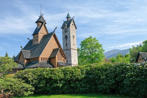 Prachtige Staafkerk Van De Vang In Karpacz Polen Stockfoto en meer beelden van Architectuur