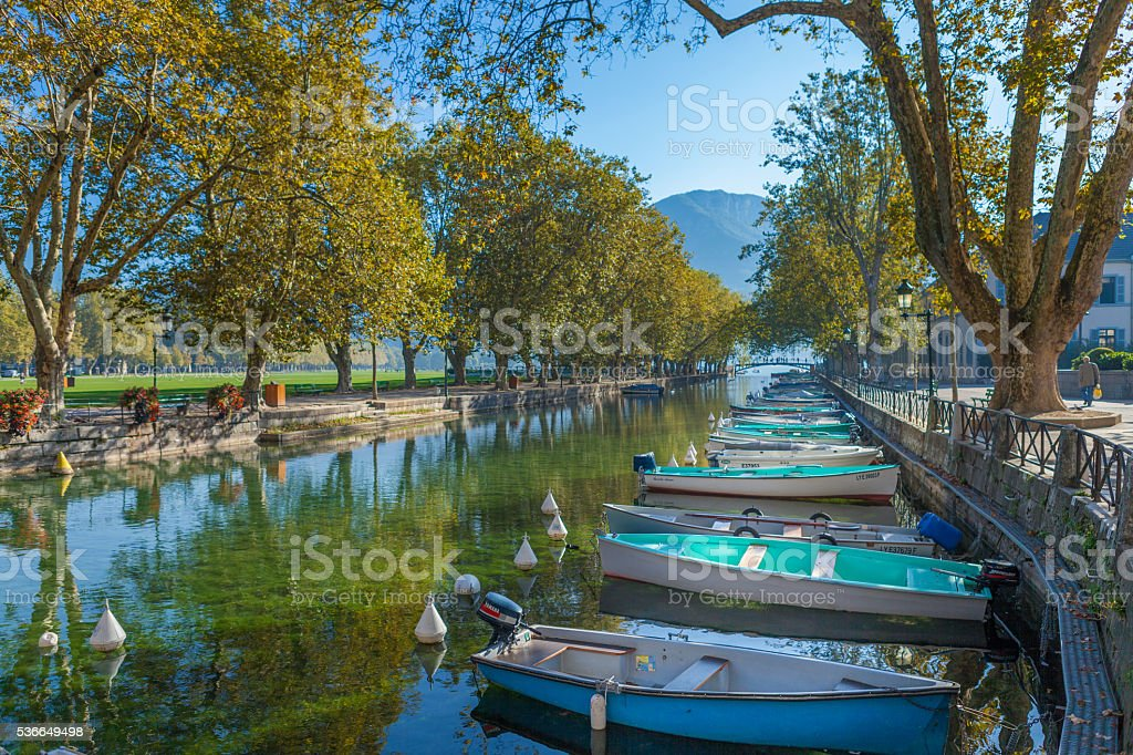 Beautiful Vassé Canal in Annecy France - Photo