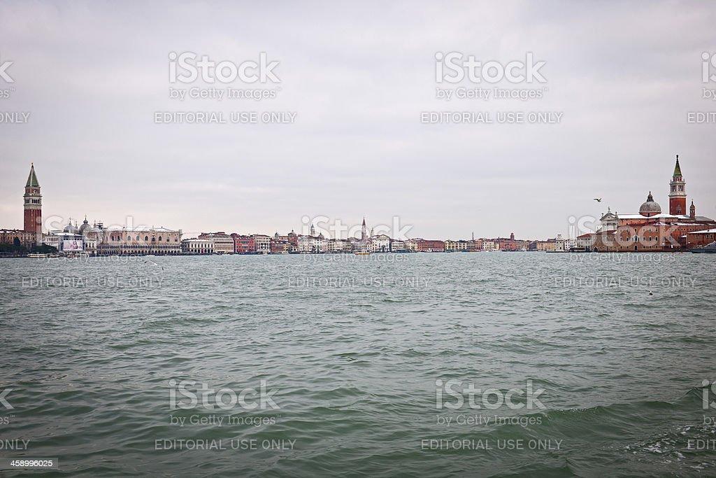 Beautiful Venice from Sea Italy Europe royalty-free stock photo