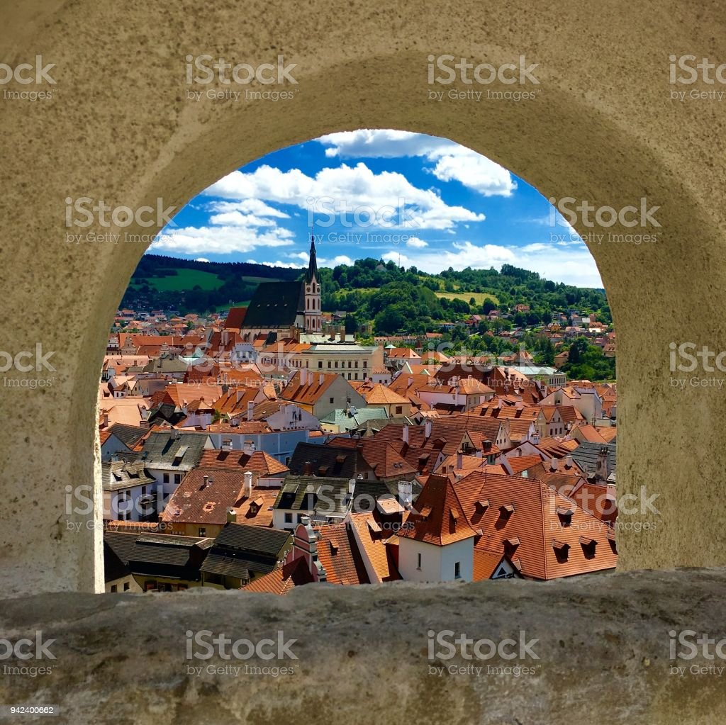 A beautiful view at Cesky Kromluv, Czech Republic stock photo
