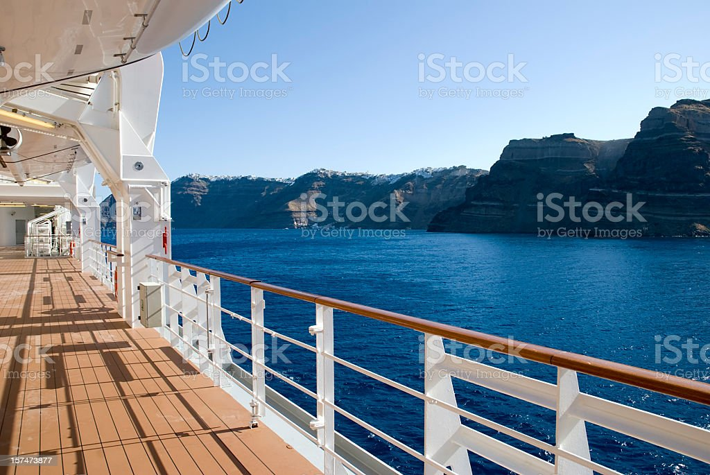 Beautiful view from a cruise ship vacation royalty-free stock photo