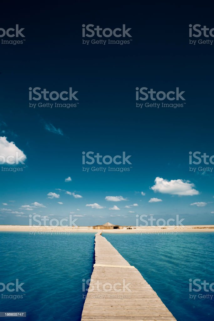 Beautiful view from a Dock stock photo