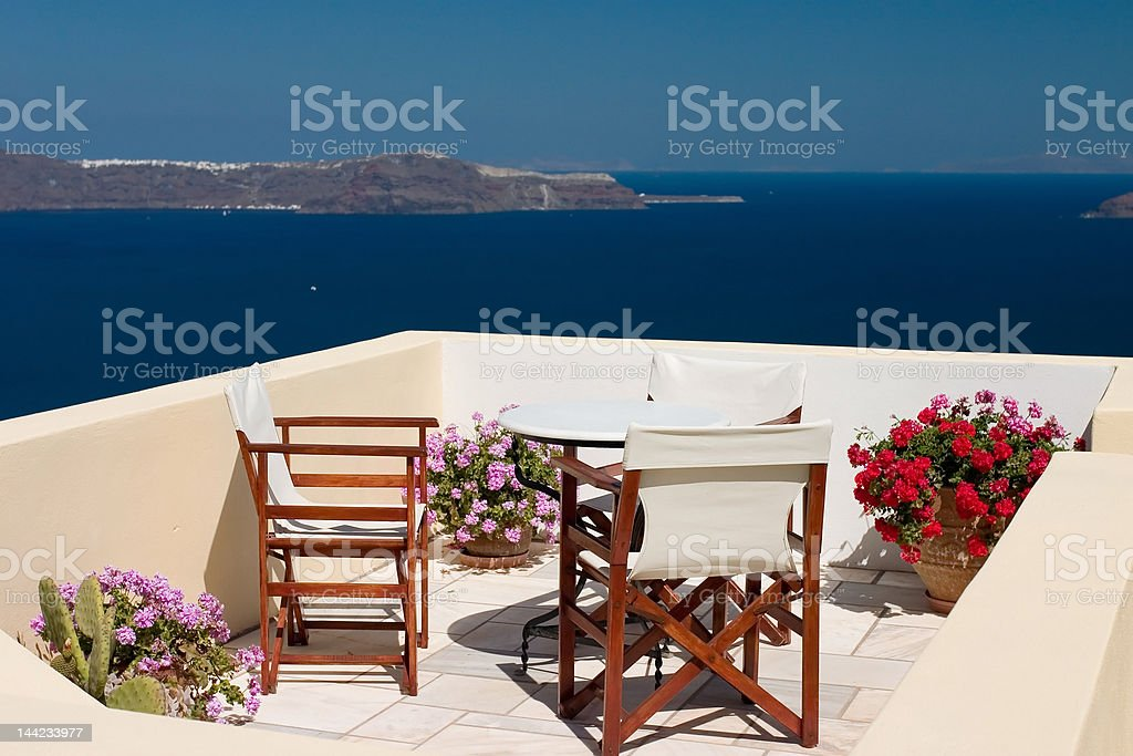 Beautiful view from balcony royalty-free stock photo