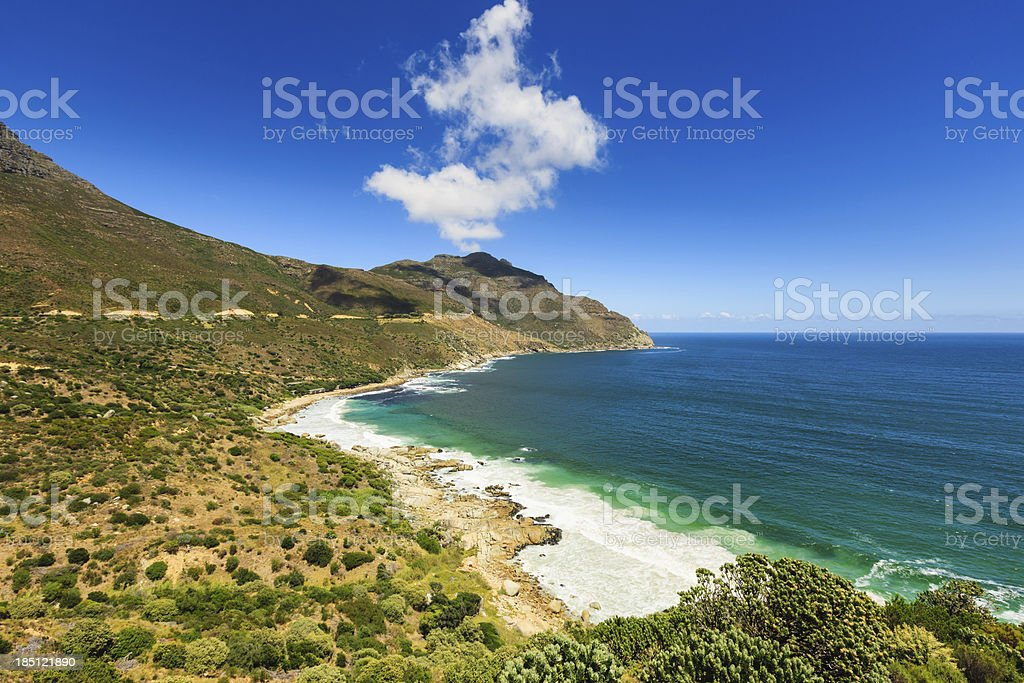 Beautiful View from Chapman's Peak Drive Natural Coastline Cape Town royalty-free stock photo