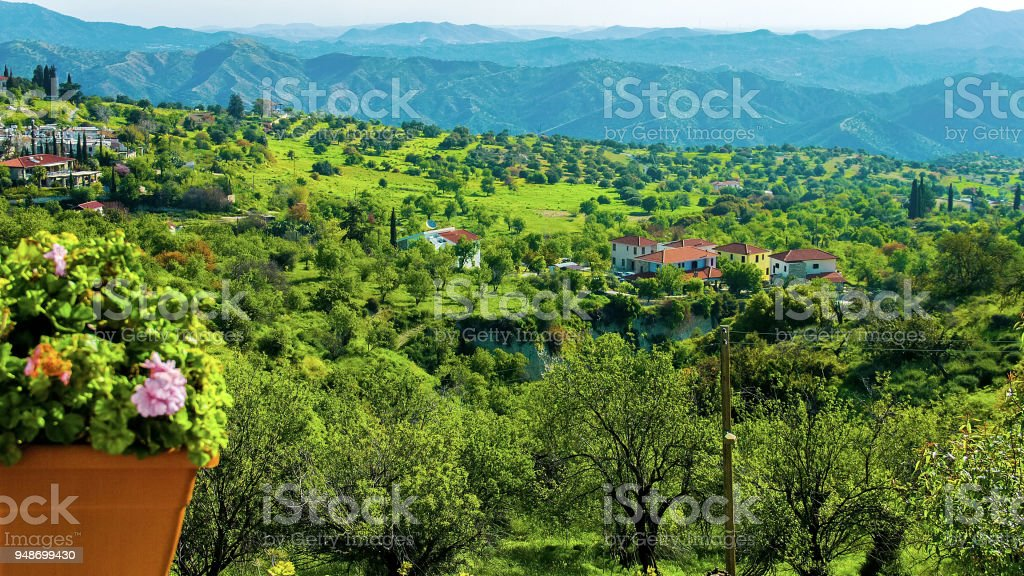 Beautiful view from luxury hotel, untouched rural nature, green...