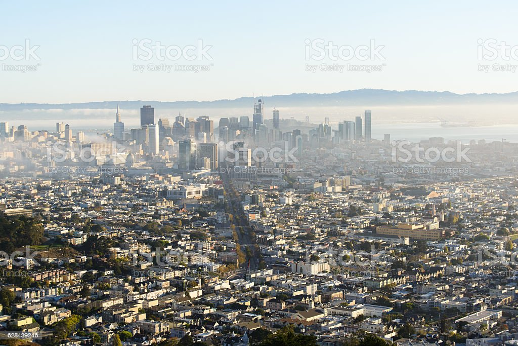 Beautiful view from San francisco stock photo