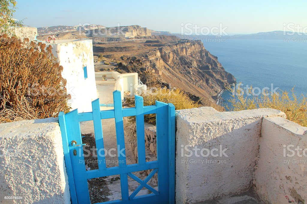 beautiful view from santorin to the sea foto de stock royalty-free