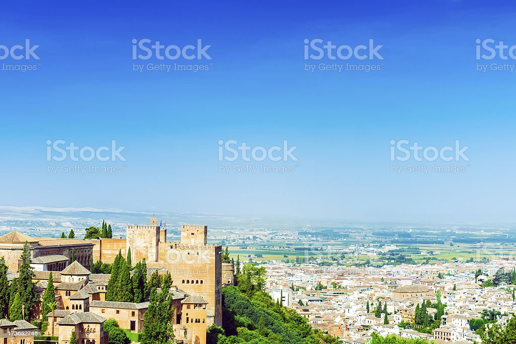 Beautiful view from the Alhambra, Granada stock photo