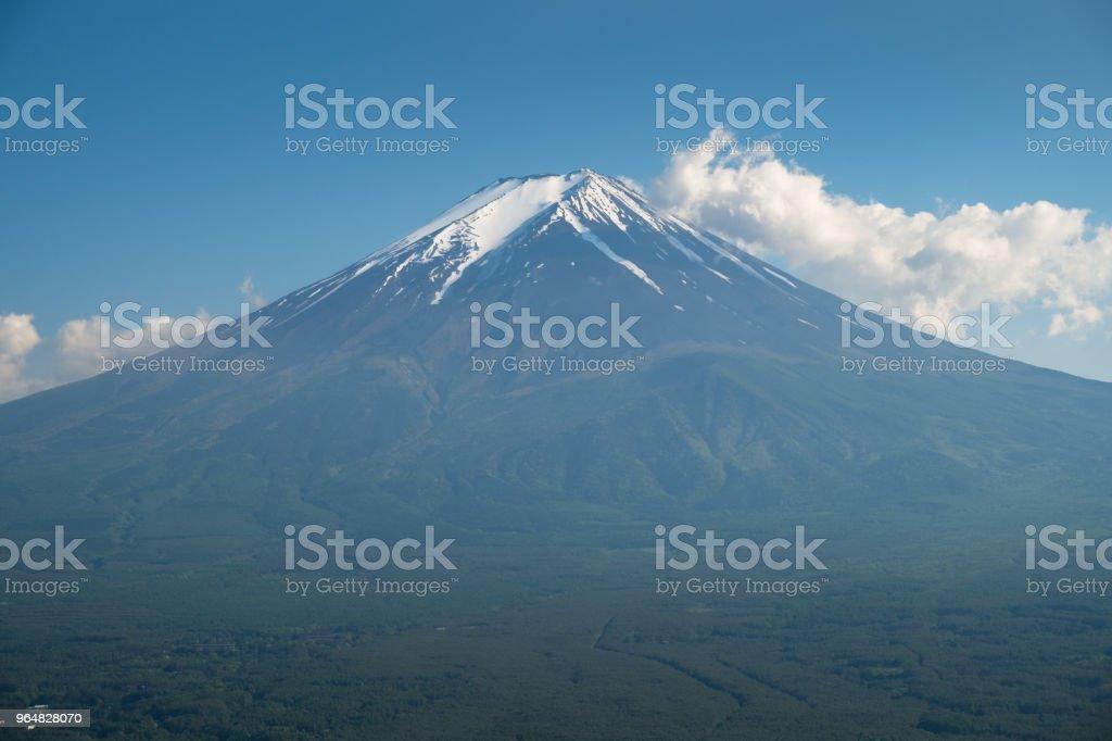 Beautiful view Fuji mountain with snow royalty-free stock photo