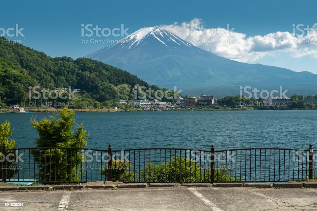 Beautiful view Fuji mountain with snow royalty-free stock photo