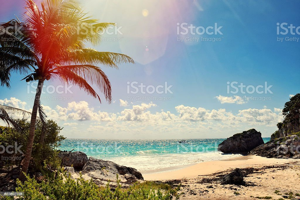 Beautiful view in Cancun,Mexico stock photo